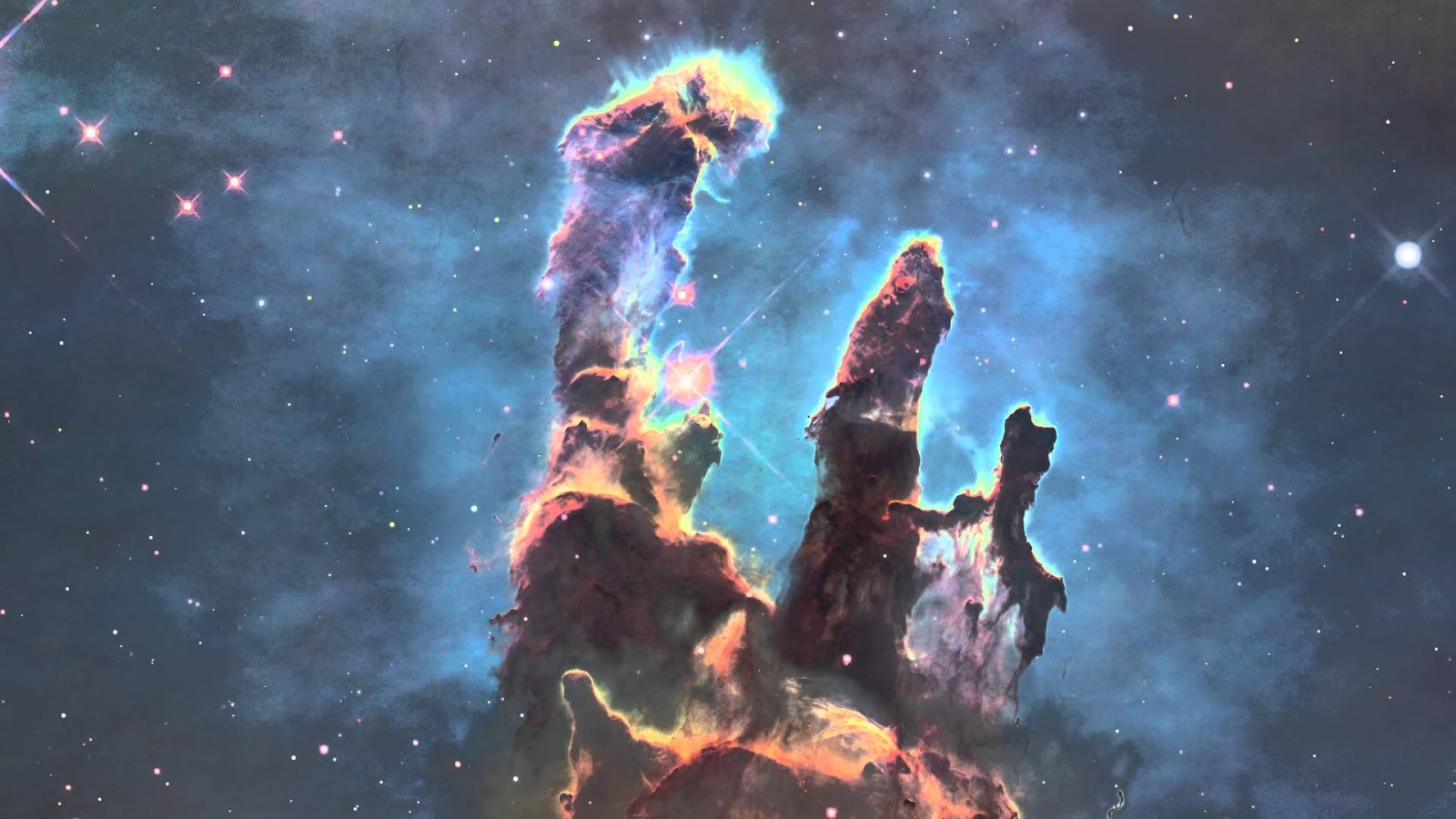 hubble backgrounds pillars of creation - photo #4