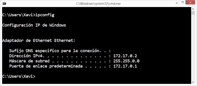 Ipconfig sin IPv6