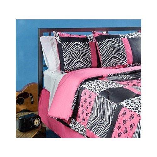 Total fab hot pink zebra leopard print comforter and bedding sets - Teen cheetah bedding ...