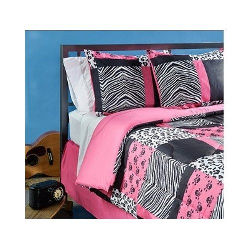 Hot Pink Zebra & Leopard Print Comforter And Bedding Sets