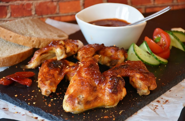 Grilled Chicken Wings at African Happy Hour Suya Joints