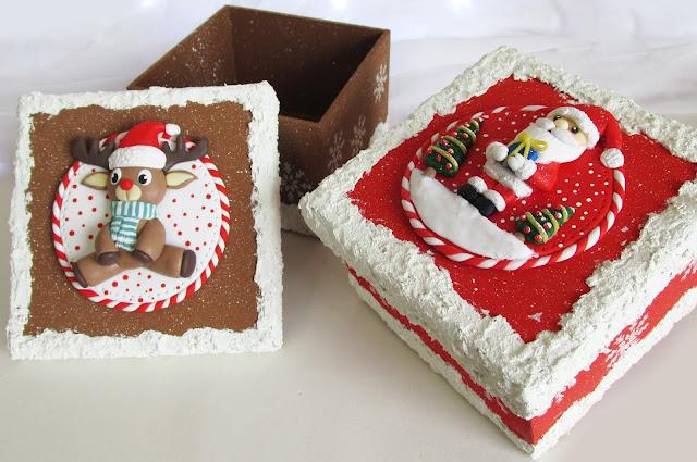 DIY: Caixas Decoradas Natalinas (Opção para Vender ou dar de Presente de Natal)