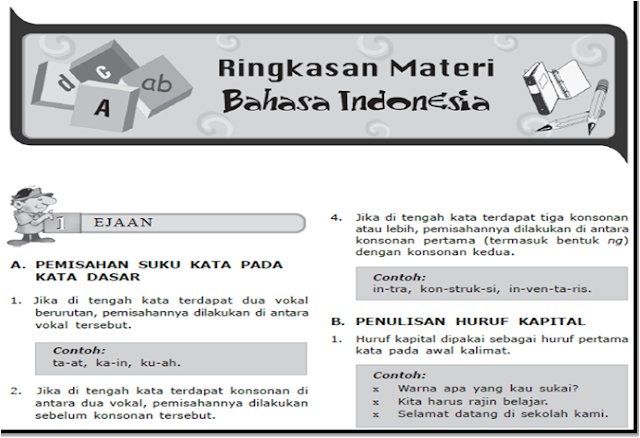 Download rangkuman materi bahasa indonesia USBN 2018