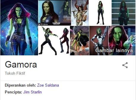 Gamora Yang diperankan oleh Zoe Saldana