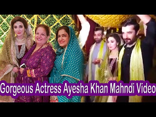 Gorgeous Actress Ayesha Khan Mahndi HD Video | Must Watch It