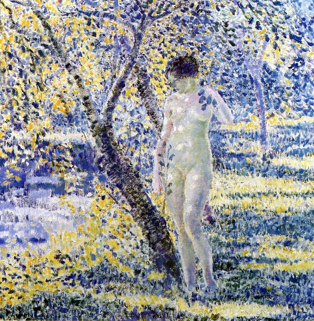 Nude In Sunlight Painting By Frederick Carl Frieseke Reproduction