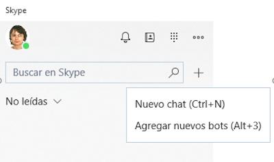 Figura 24: Desde Skype, buscamos el bot para iniciar una conversación.