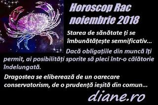 Horoscop Rac noiembrie 2018