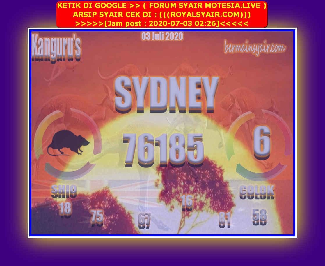Kode syair Sydney Jumat 3 Juli 2020 223