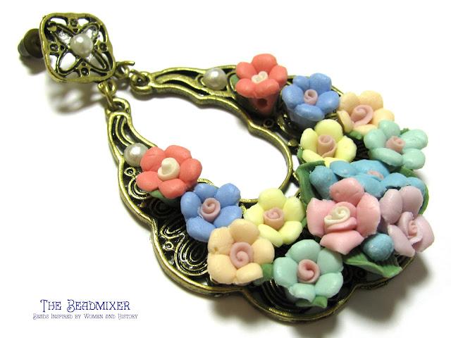 Barokke rozen oorbellen