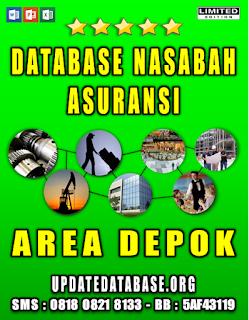 Jual Database Nasabah Asuransi Depok
