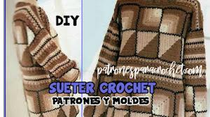 Patrones de Suéter Crochet Fácil y Creativo