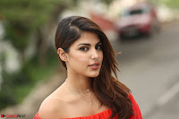 Rhea Chakraborty in Red Crop Top and Denim Shorts Spicy Pics ~  Exclusive 354.JPG