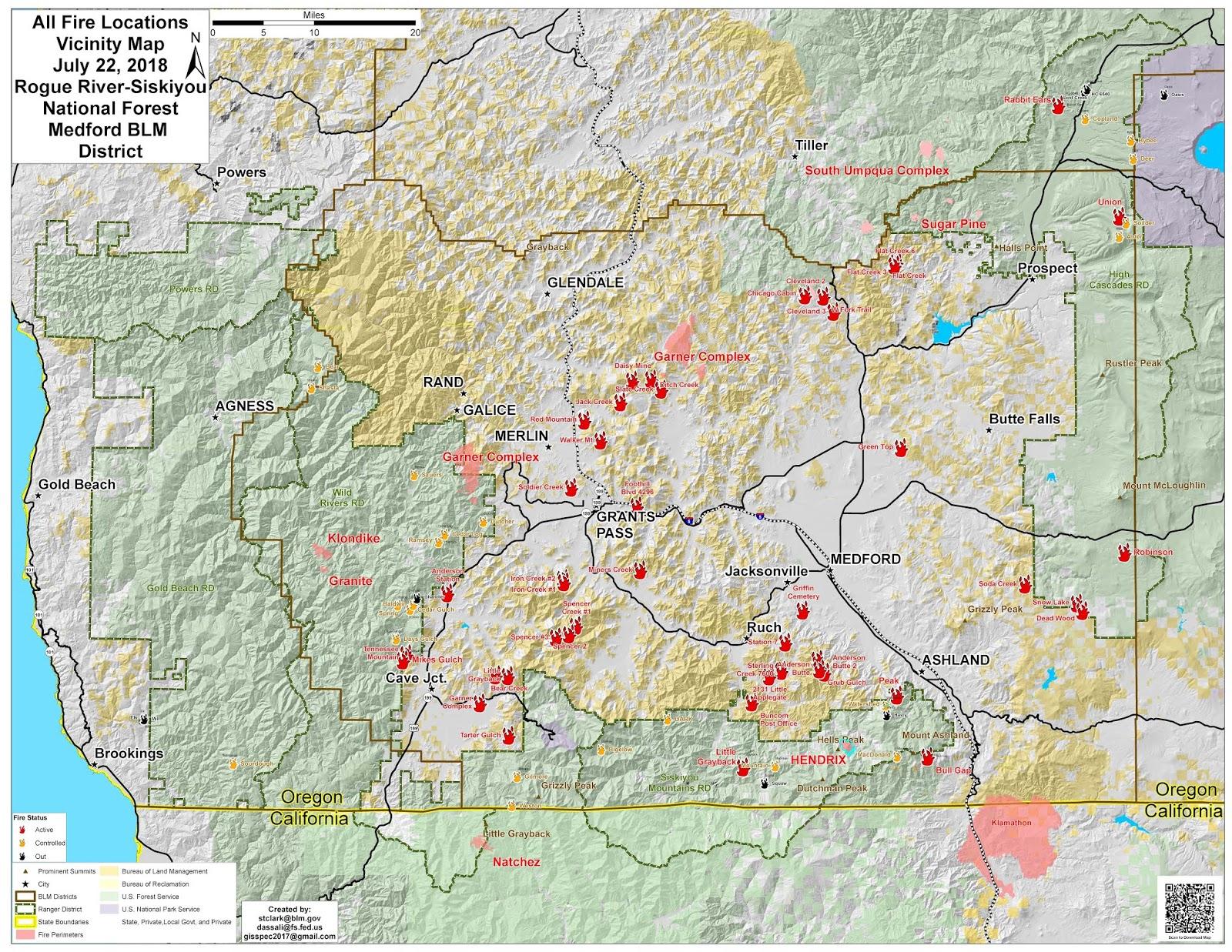 Southwest Oregon Joint Information Center Current Fires In