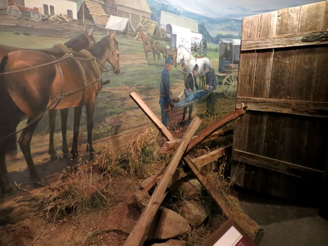 A carriage diorama in the museum of medicine