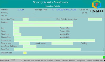 Inspection Details of Security register Maintenence