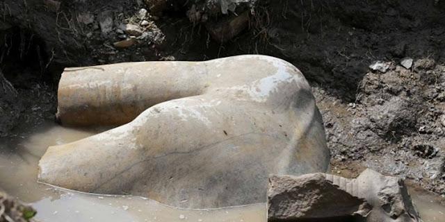 Patung Firaun Berusia 3 ribu Tahun Ditemukan di Pinggiran Kairo Ibu Kota Mesir