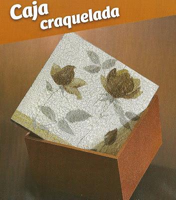 Caja craquelada Decoupage ~ Solountip.com
