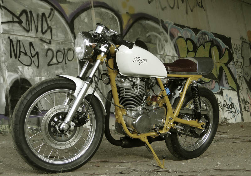 cafe racer special yamaha sr 500 caf racer from holland. Black Bedroom Furniture Sets. Home Design Ideas