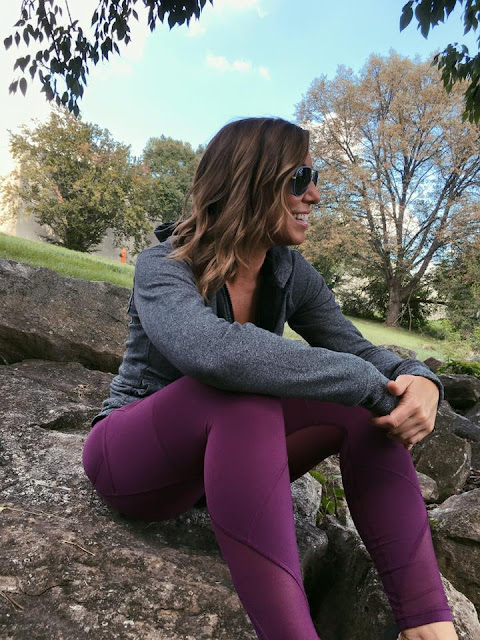 lululemon chilled-grape outrun-tight split-hoodie speckled