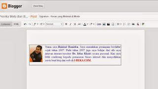 desain blog signature