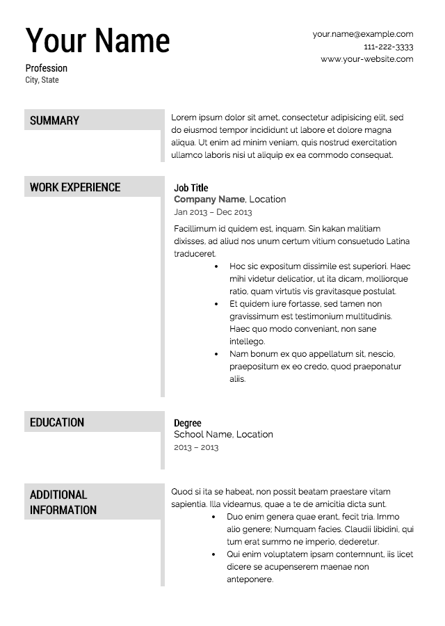 resume templates and examples. Resume Example. Resume CV Cover Letter