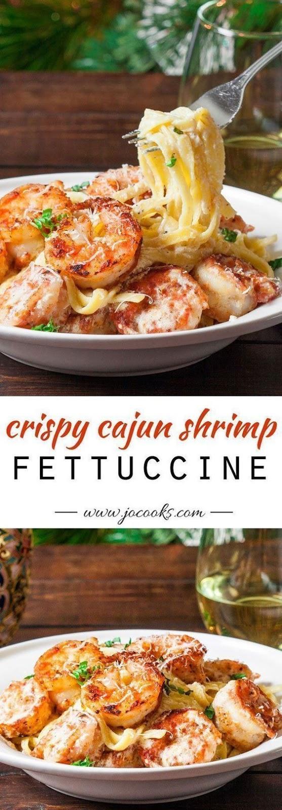 Crispy Cajun Shrimp Fettuccine