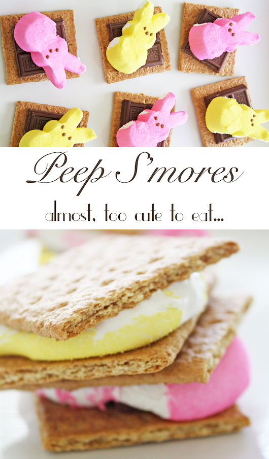 Colorful Peep S'mores