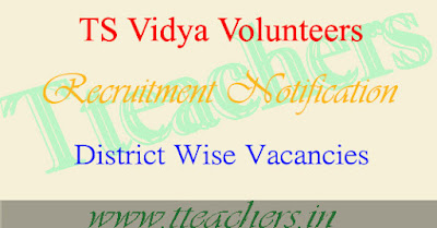 TS Vidya Volunteers VVs Notification District wise Vacancies 2016