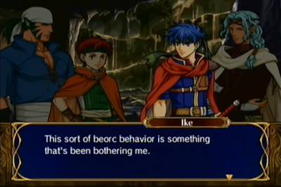 Fire Emblem: Path of Radiance Chapter 15 The Feral Frontier Ike beorc behavior Tormod