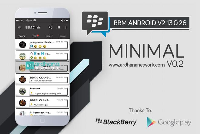 BBM Minimal V0.2 - BBM MOD Android V2.13.0.26