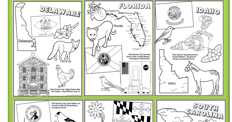 FREE State Coloring Pages