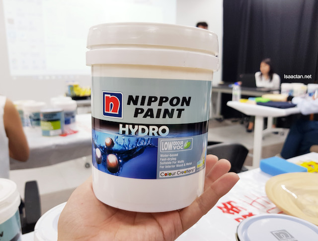 Nippon Hydro-Matt, an environmentally friendly green paint with low VOC (Volatile Organic Compound) suitable for interior wood and metal use