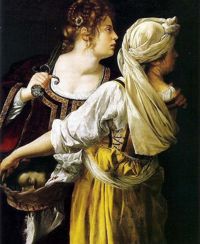 Artemisia Gentileschi  - Judith et sa servante, vers 1618-1619.