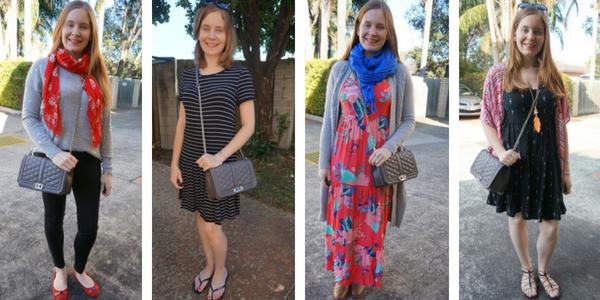 Rebecca Minkoff Love Bag outfit ideas worn cross body | awayfromblue