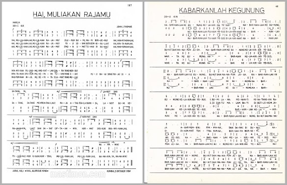 Daftar lirik lagu PADUAN SUARA NATAL lengkap dengan NOT BALOK Nada