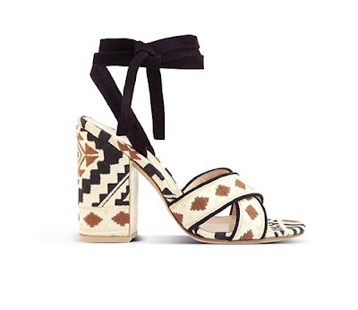 Gianvito Rossi Spring Summer 2016 Shoes Cheyenne American Indian Print block heel