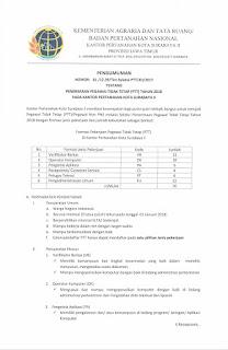 Lowongan Kerja Non PNS Terbaru Non PNS Badan Pertanahan Nasional Tingkat SMA Sederajat