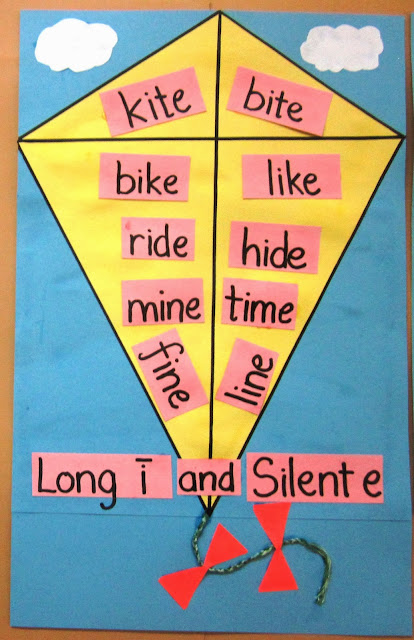 Long i and silent e words - craft