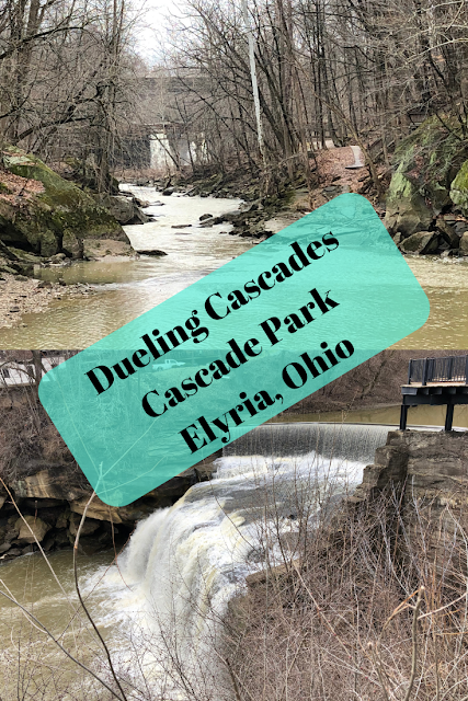 Dueling Cascades in Cascade Park in Elyria, Ohio