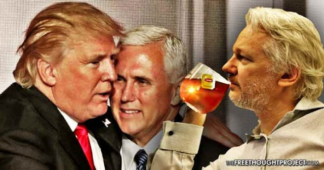 Julian Assange Just Warned of a Deep State Coup Meant to Install Mike Pence as President Assange-trump-696x366