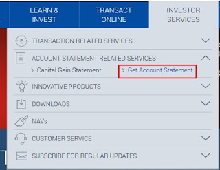 Reliance Mutual Fund - Download Online Account Statement