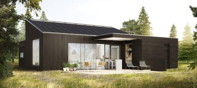 Q-model, sommerhus, fritidshus, arkitekttegnet, udekøkken, moderne, stil