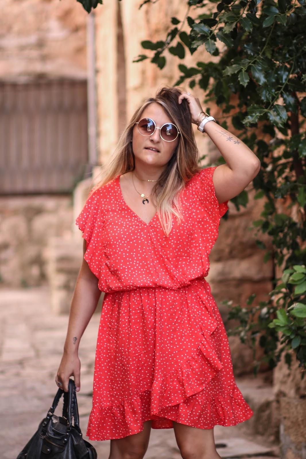 robe rouge à pois parisgrenoble