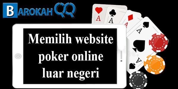Memilih website poker online luar negeri