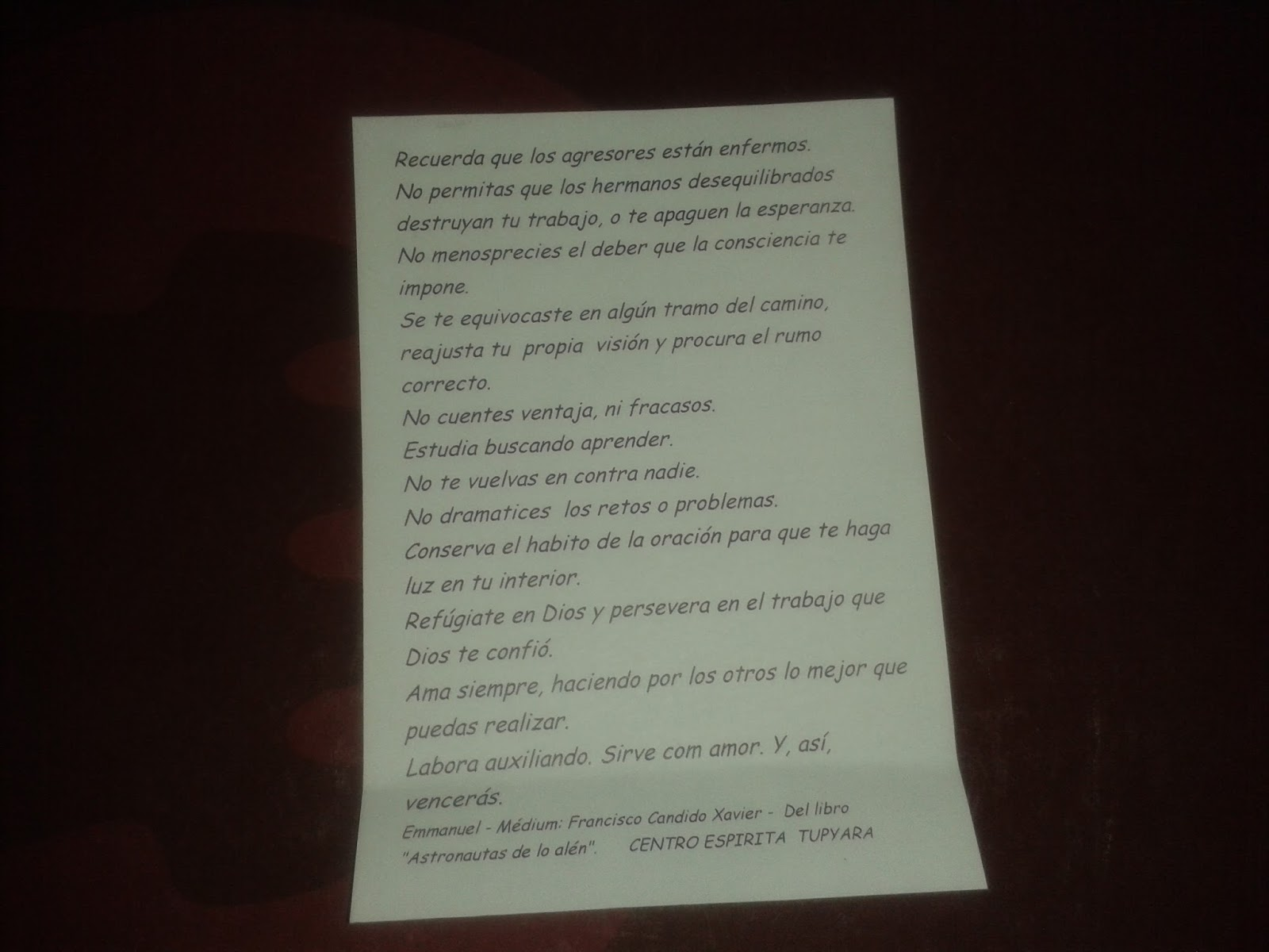 Carta A Los Monjes Tupyara