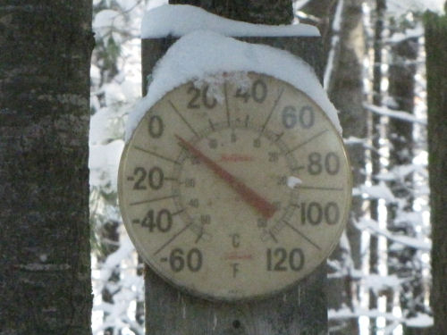 zero degree thermometer