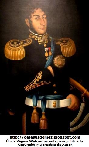 Foto al retrato de José de San Martín expuesta en el Museo de Arte de Lima. Foto de José de San Martín tomada por Jesus Gómez