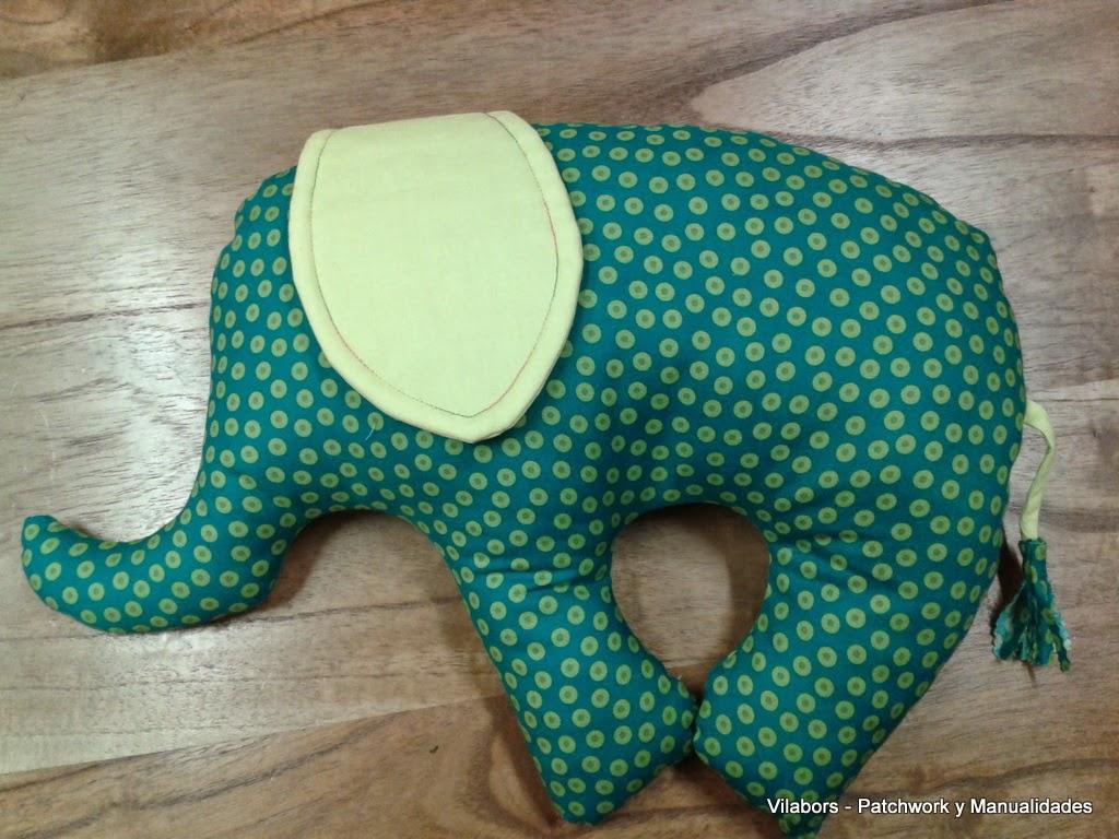 Cojín Elefante para bebé - Patchwork Vilabors, Vilafranca del Penedès