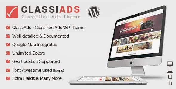 Classified ads wordpress theme